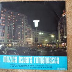 MUZICA USOARA ROMANEASCA Spataru Sincron Al Imre Paslaru disc vinyl Muzica Pop electrecord, VINIL