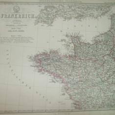 4 harti Franta Gotha Justus Perthes 1866 de F. Von Stulpnagel