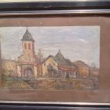 Tablou semnat, Partog (Petre) Vartanian ulei\ carton, 15x23 cm - Pictor roman, Peisaje