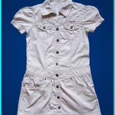 DE FIRMA _ Rochie subtire, de vara, chic, marca H&M _ fete | 8 - 9 ani |134 cm, Marime: Alta, Culoare: Bej