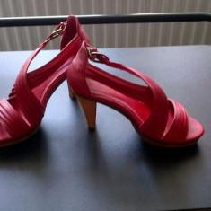 Sandale platforma rosii masura 38-39 - Sandale dama, Culoare: Rosu, Marime: 38.5, Rosu