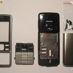 Vand Carcasa Nokia 6300 Noua Completa Metalica Gri Silver Argintie