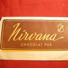 Eticheta ( ambalaj) de ciocolata interbelica, marca  Nirvana