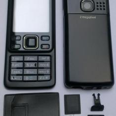 Vand Carcasa Nokia 6300 Noua Completa Metalica Neagra Negru Black