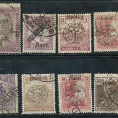 RFL 1919 ROMANIA Emisiunile Cluj-Oradea lot de 12 timbre stampilate - Timbre Romania