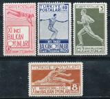 1940 TURCIA serie sport atletism nestampilata fara sarniera 4 timbre MNH