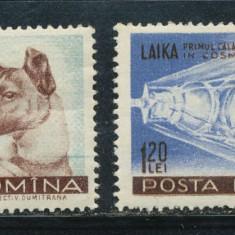 RFL 1957 ROMANIA serie nestampilata fara sarniera cosmos - Laika - Timbre Romania