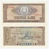 ROMANIA 5 LEI / 1966. aUNC. - Bancnota romaneasca