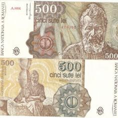 ROMANIA 500 LEI / 1991. XF++ / aUNC. - Bancnota romaneasca