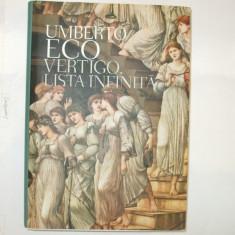 U. Eco Vertigo. Lista infinita 2009 - Album Arta
