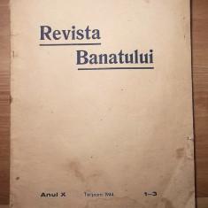 AuX: Veche Revista Banatului Perioada Interbelica 1944 Anul X 70 Pag - Carte veche
