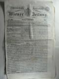 STAMPILA PREFILATELICA PENTRU ZIARE - WIEN 1842  -ZIAR OFICIAL AL IMP.  AUSTRIAC