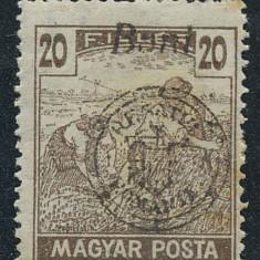 RFL 1919 ROMANIA Emisiunea Oradea eroare seceratori MP 20 Bani tipar rar uleios neclar - Timbre Romania