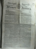 STAMPILA PREFILATELICA PENTRU ZIARE - WIEN 1842 - ZIAR OFICIAL AL IMP. AUSTRIAC