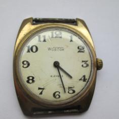Ceas Wostok placat cu aur - Ceas barbatesc, Casual, Mecanic-Manual, Analog, 1970 - 1999