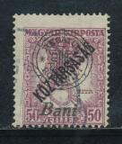 RFL 1919 ROMANIA  Oradea eroare Zita Koztarsasag 50B stampilata tipar deplasat, Regi, Stampilat