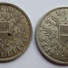 lot doua monede ARGINT 1 schilling Austria 1925 si 1926 LUCIU DE BATERE --- PRET REDUS