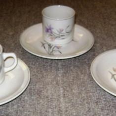 Set / serviciu - ceai / cafea / mic dejun - portelan China - marcat - Ceasca