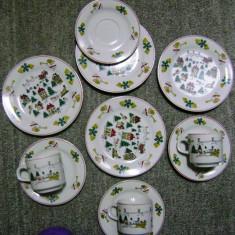 Set / Serviciu - ceai / cafea / mic dejun - portelan Bavaria - 4 persoane - Craciun - Ornamente Craciun