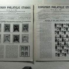 ROMANIAN PHILATELIC STUDIES NR 4 ANUL 1983 SI NR 2 ANUL 1985