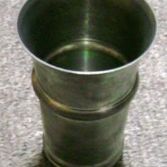 Pahar - zinc - marcat - Metal/Fonta, Vase