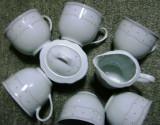 Set / Serviciu - ceai / cafea - portelan Bavaria -  Ingres Weiss - 1956