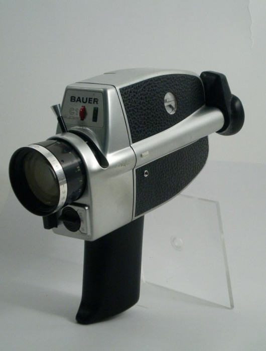 camera de filmat vintage bauer c1 super 8 1965 aparat de colectie okazii. Black Bedroom Furniture Sets. Home Design Ideas