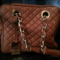 D&G LILY BAG ORIGINALA EDITIE LIMITATA DIN PIELE - Geanta Dama D&G, Geanta de umar, Maro
