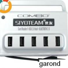 hub USB cu 5 porturi, cititor/inscriptor de carduri, Bluetooth /4197