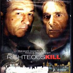 DVD filmul Righteous Kill, cu Deniro si Al Pacino, in engleza
