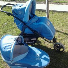 OCAZIE !!! Carucior BERTONI ATLANTA 2 in 1 - Carucior copii 2 in 1 Bertoni, Pliabil, Albastru