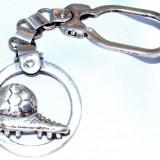 Breloc din argint 925 - Gheata si minge fotbal