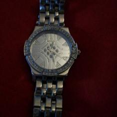 Ceas cu cristale marca Geneva Elite - Ceas barbatesc Geneva, Quartz, Inox, Analog