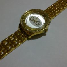 CEAS Dolce Gabbana DG - GOLD - MEGA SUPER OFERTA - CEL MAI MIC PRET - Ceas dama Dolce & Gabbana, Quartz, Otel, Analog