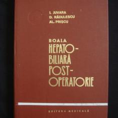 I. JUVARA, D. RADULESCU, AL. PRISCU - BOALA HEPATO BILIARA POST OPERATORIE