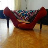 PANTOFI PIELE- UTERQUE MARIMEA 37 - Pantof dama, Culoare: Coniac