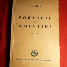 I.G.Duca - Portrete si Amintiri - Ed. IIa 1932 - Biografie