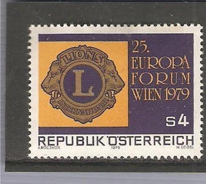 AUSTRIA 1979 - LIONS CLUB INTERNATIONAL, timbru nestampilat, B18