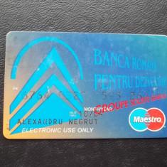CARD BRD MAESTRO - 2004 - RAR ( NR 7777 ) - Card Bancar