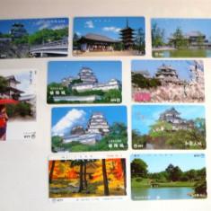 Set 10 cartele Japonia - PAGODE - 2+1 gratis toate licitatiile - RBK2278 - Cartela telefonica straina