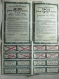 BON PENTRU INZESTRAREA ARMATEI - 5 ANI - CORPUL BONULUI LEI 1400 - TALON FRACTIONAL LEI 600 - CU TOATE CUPOANELE - SERIA A2  360267 - ANUL 1941