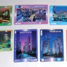 Set 7 cartele / carduri diverse - ORASE, SCENE TOKIO - 2+1 gratis toate licitatiile - RBK2368 - Cartela telefonica straina