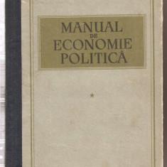 (C3233) MANUAL DE ECONOMIE POLITICA, EDITURA DE STAT PENTRU LITERATURA POLITICA, BUCURESTI, 1955