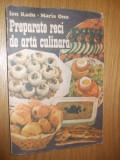 PREPARATE RECI SI ARTA CULINARA  -- Ion Radu, Maria Onu  - 1990, 256 p.
