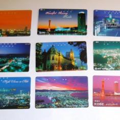 Set 9 cartele Japonia - ORASE, ARHITECTURA, NOAPTEA - 2+1 gratis toate licitatiile - RBK2281 - Cartela telefonica straina