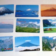 Set 9 cartele Japonia - NATURA, MUNTI - 2+1 gratis toate licitatiile - RBK2303 - Cartela telefonica straina