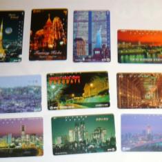 Set 10 cartele Japonia - ORASE, ARHITECTURA, NOAPTEA - 2+1 gratis toate licitatiile - RBK2280 - Cartela telefonica straina