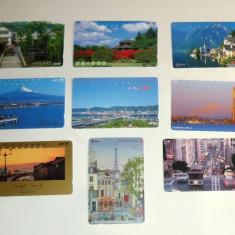 Set 9 cartele Japonia - ORASE, ARHITECTURA - 2+1 gratis toate licitatiile - RBK2279 - Cartela telefonica straina