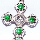 Medalion argint 800 si email Cruce- Cross2 - Pandantiv argint