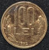 ROMANIA 100 LEI 1992 PLACATA CU AUR (IN REALITATE ARATA MULT MAI BINE)
